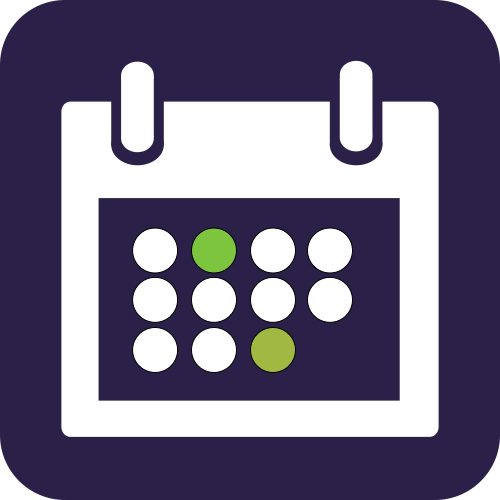 Never miss appointments again with <br/> our integrated calendar! graphic